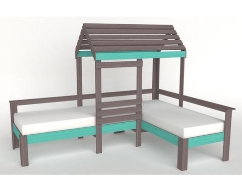 Кровать-домик АВАРА-4 левая 1700-700 /2552*1800*1832/