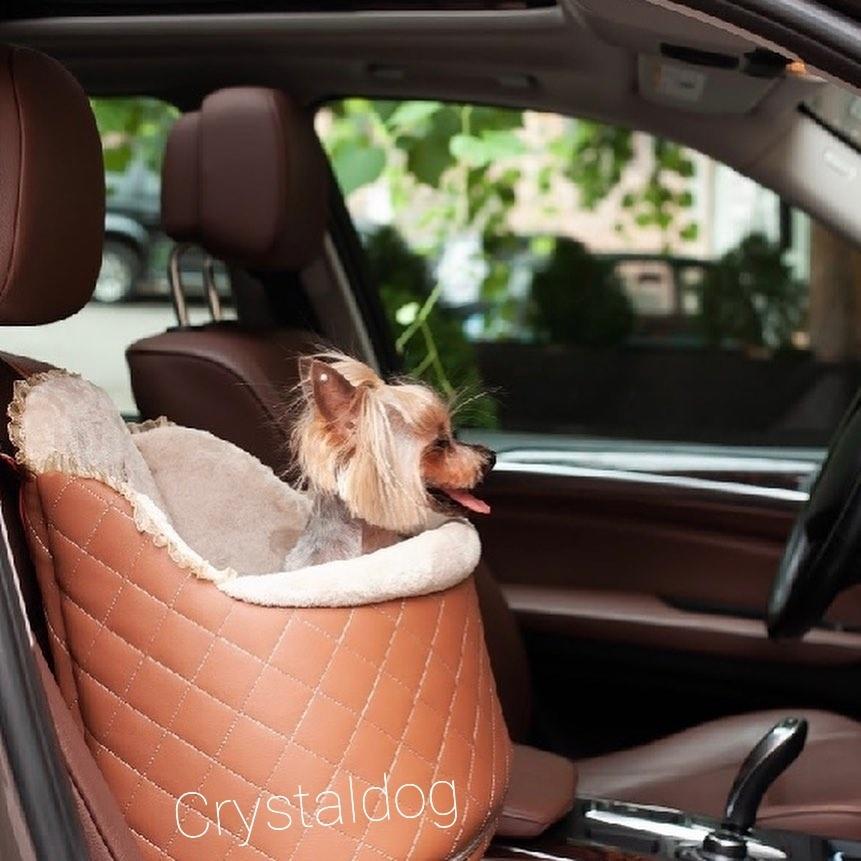 1954/2 - Подвесное автокресло для собак бежевое