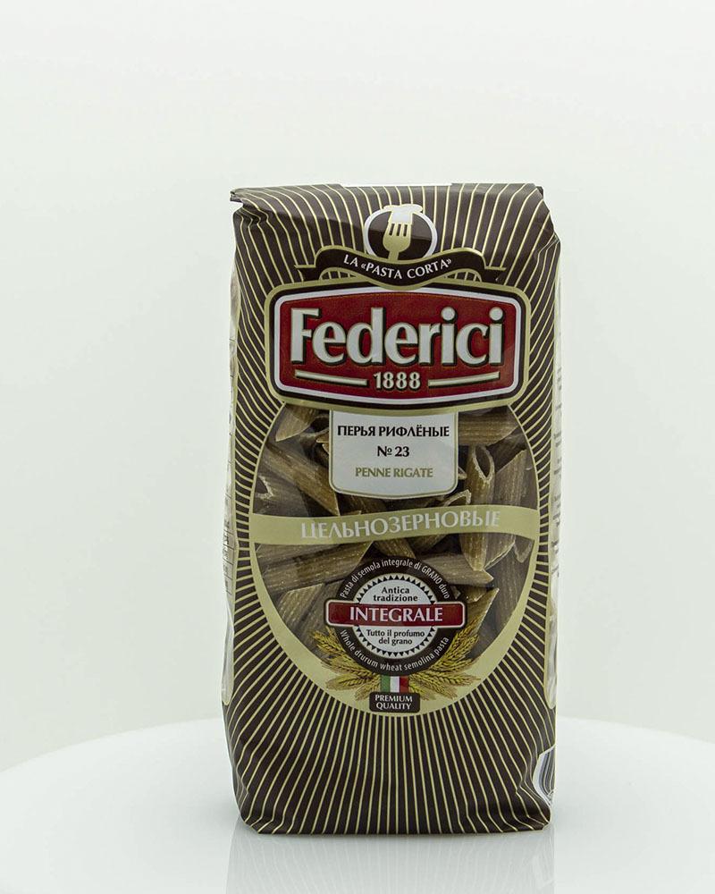 Макаронные изделия Federici Цельнозерновые Перья Рифлёные 400 гр.