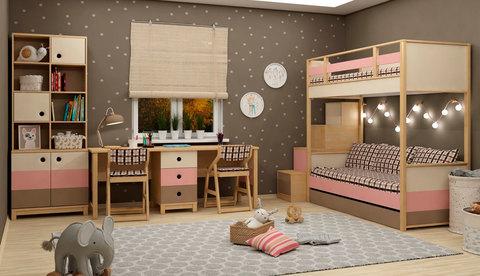 Кровать 2х-ярусная универсальная 38 попугаев Робин Wood