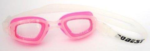 Очки для плавания Dobest HJ-15, белый/розовый