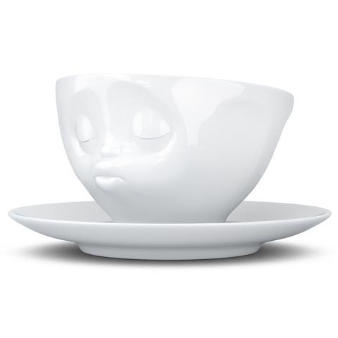 Чайная пара Tassen Kissing 200 мл белая