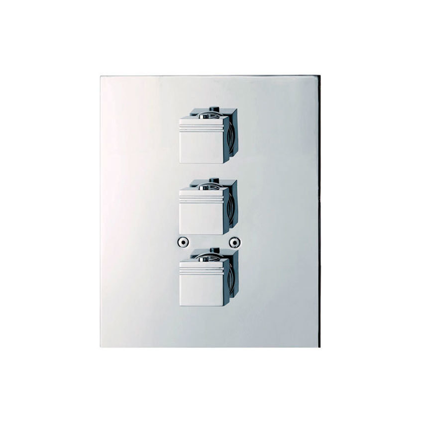 Встраиваемый термостатический смеситель для душа KUATRO 4723S на 3 выхода