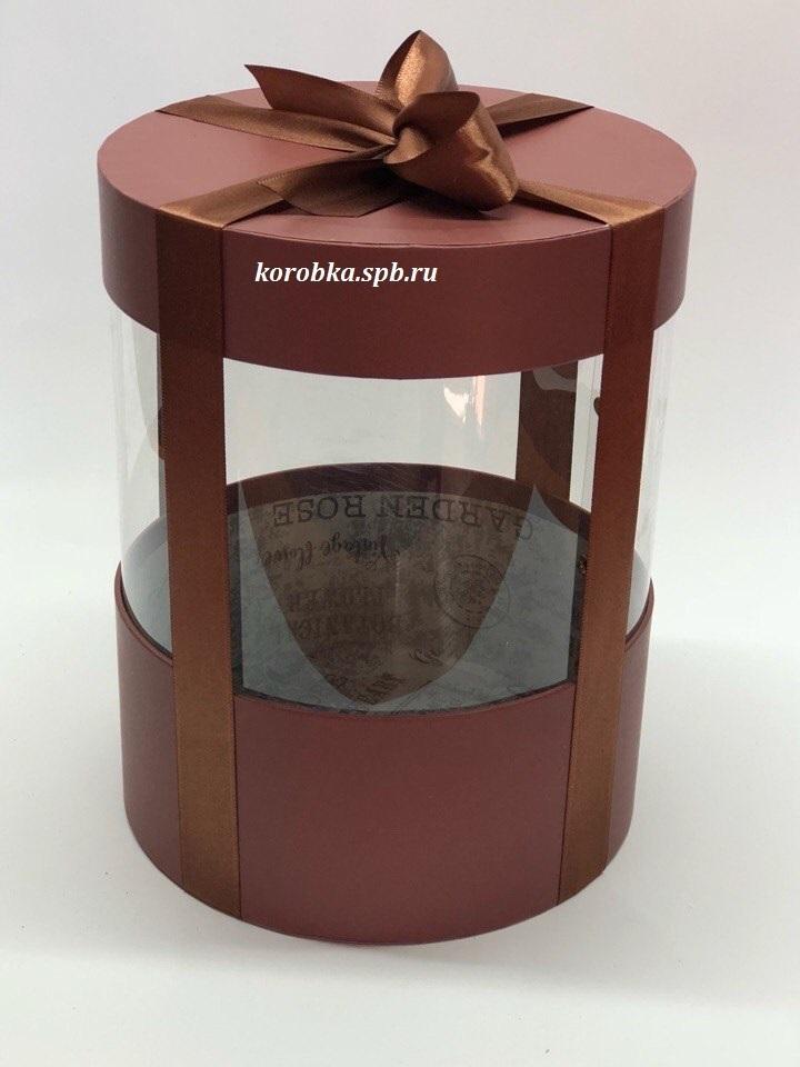 Коробка аквариум 20 см Цвет : Коричневый  . Розница 400 рублей .