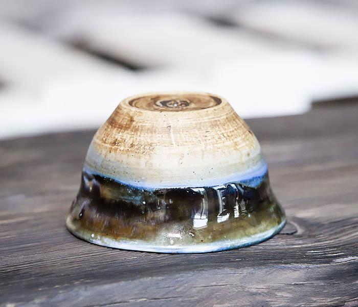 CUP101-1 Пиала для чая ручной работы из глины фото 05