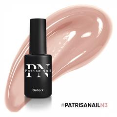 Patrisa Nail, Гель-лак каучуковый камуфлирующий Dream Pink №N3, 8 мл - фото 1