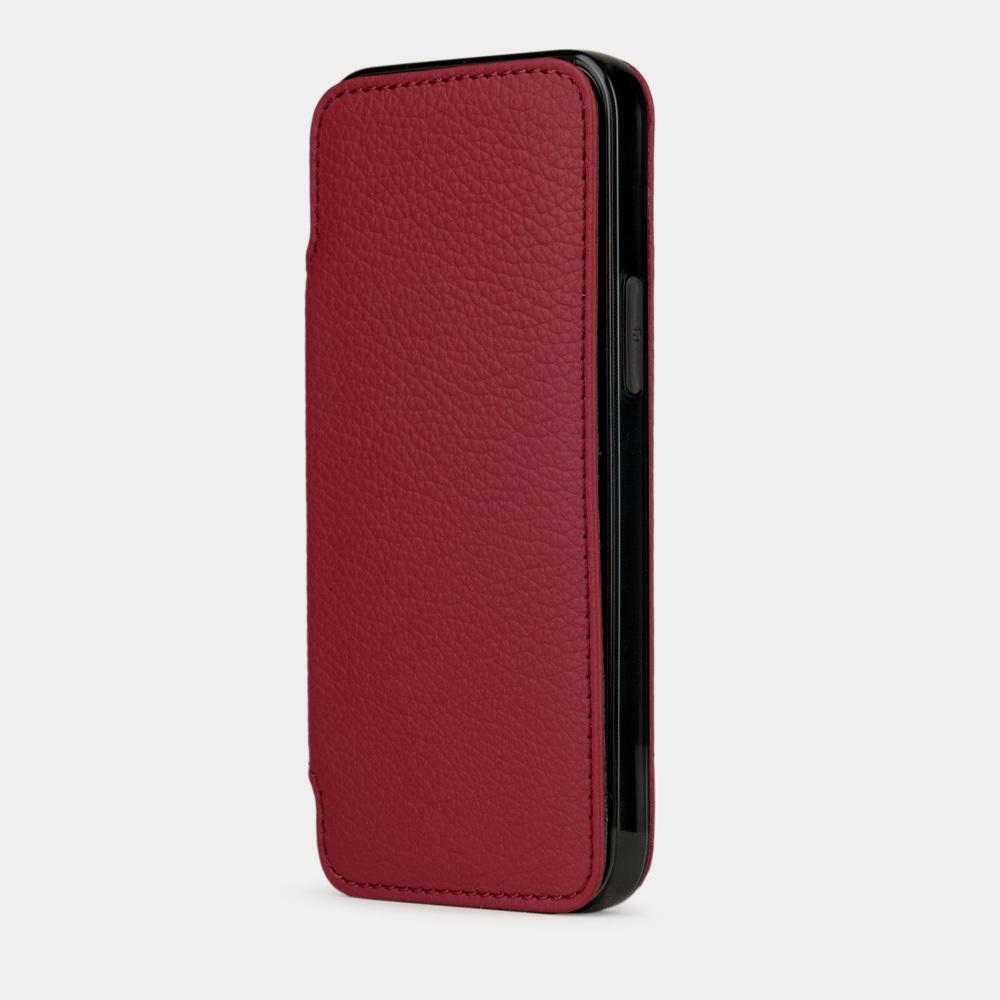 Чехол Benoit для iPhone 12/12Pro из натуральной кожи теленка, вишневого цвета