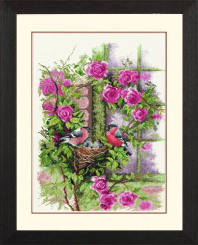 производитель LANARTE¶артикул 34808¶размер 29 х 39¶техника счетный крест¶тематика цветы¶В составе на