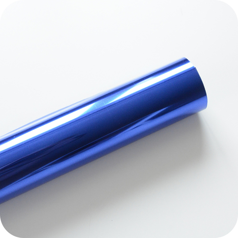 Термотрансферная пленка зеркальная синий  25х25 см