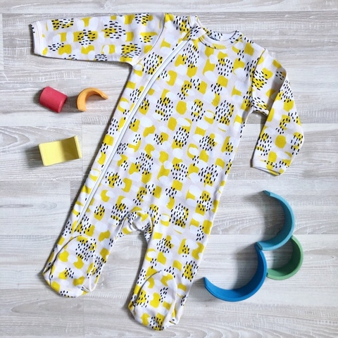 Комбинезон Mjölk Sleep and Play Mustard Spots