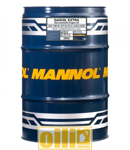 Mannol 7508 GASOIL EXTRA 10W-40 60л