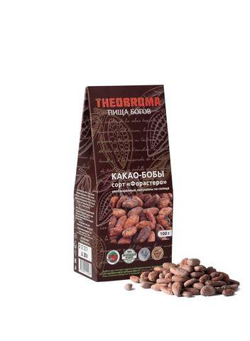 Какао-бобы  необжар. Форастеро 100г Theobroma