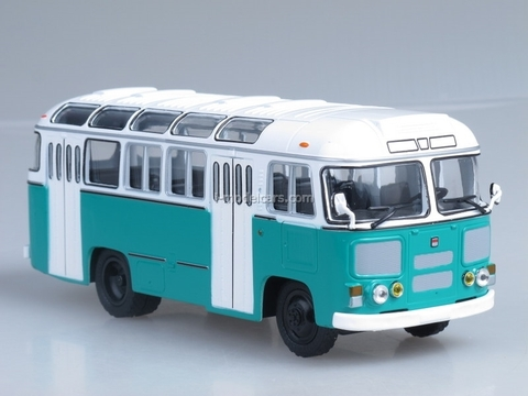 PAZ-672M white-green Soviet Bus (SOVA) 1:43
