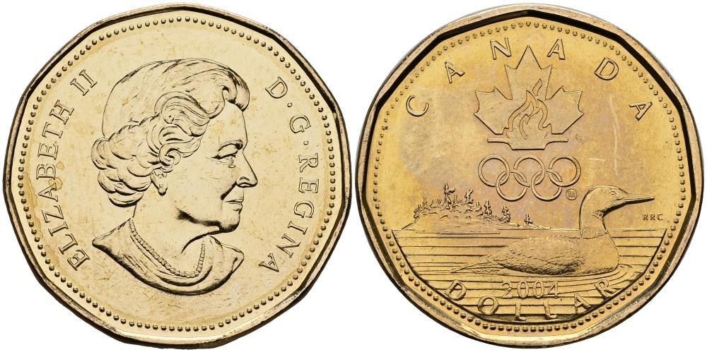"1 доллар ""Олимпийская утка. Афины - 2004 год"" 2004 год UNC"