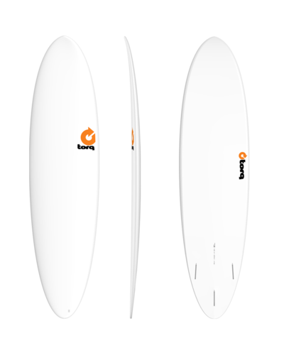 Серфборд TORQ TET Fun 7'2'' - Plain White