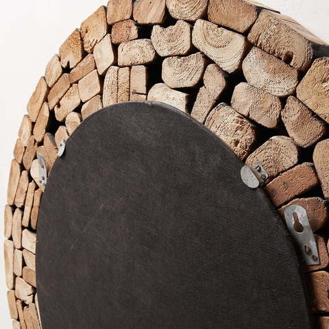 Зеркало Ellipse древесина