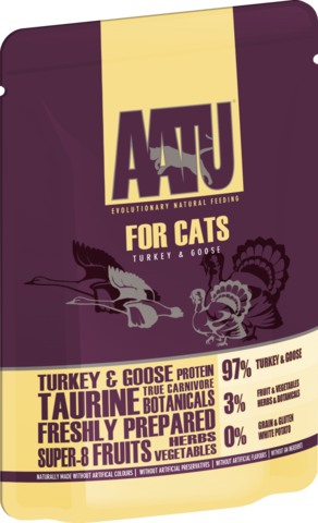 AATU паучи для кошек с Индейкой и Гусем AATU FOR CATS TURKEY & GOOSE