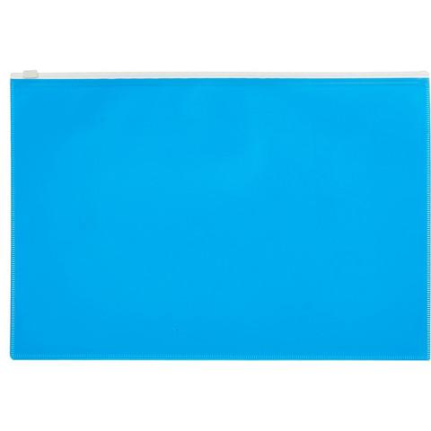 Папка на молнии А4 Attache Color , голубой