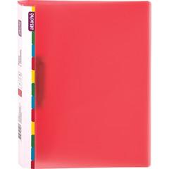 Папка с зажимом Attache Diagonal А4 0.6 мм красная (до 150 листов)