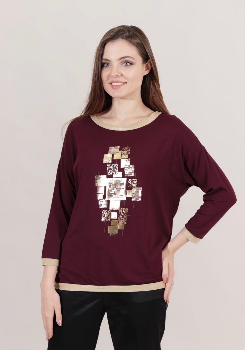 Блузка Nola 8836 кубики