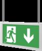 Подвесные указатели направления движения IP44 Infinity II AS – белый корпус