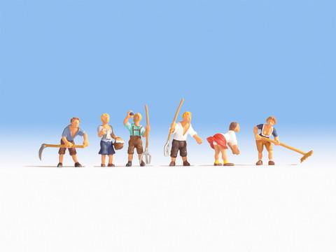 Работы в поле (6 человечков)