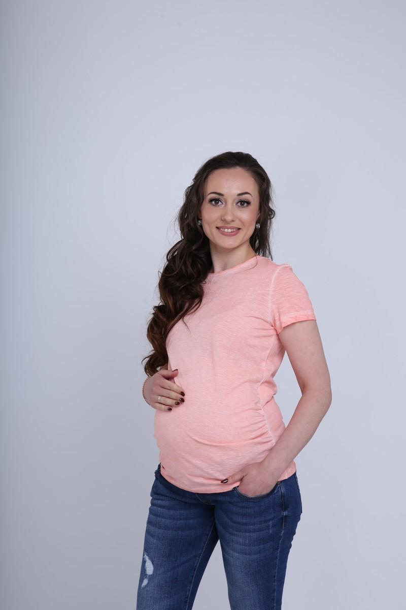 Футболка для беременных 09603 розовый