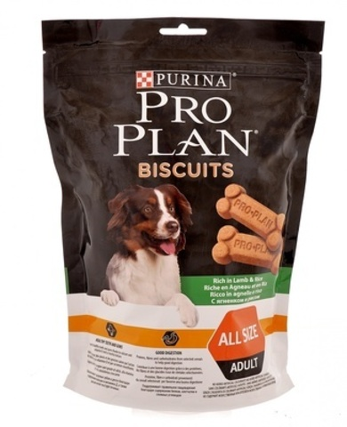 PURINA PRO PLAN Лакомство для собак бисквиты с ягненком и рисом Biscuits