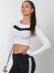 Женский рашгард Ryderwear Performance Crop - White
