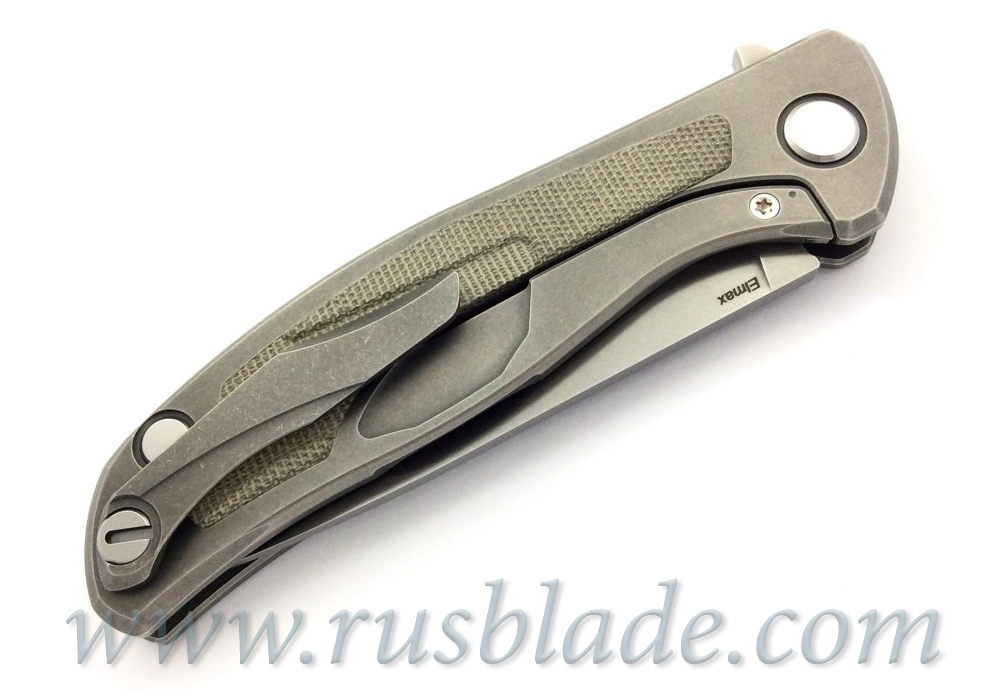 Shirogorov F95NL Elmax Green Canvas Micarta 2019 - фотография