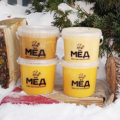 Медовое ассорти 4 шт по 1 литру натурального мёда 2020 год