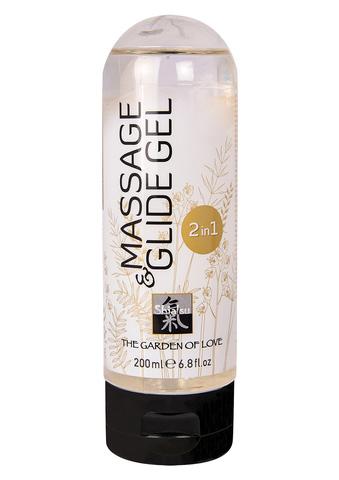 Массажный гель Shiatsu -Massage & Glide Gel 2в1 - Neutral, 200мл.