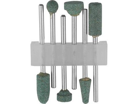 STAYER Набор: насадки шлифовальные абразивные с оправкой, карбид кремния, 6 предм.