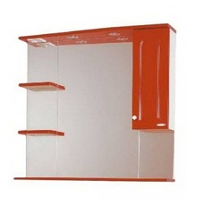 Зеркало-шкаф SanMaria Венге-90 красный правый