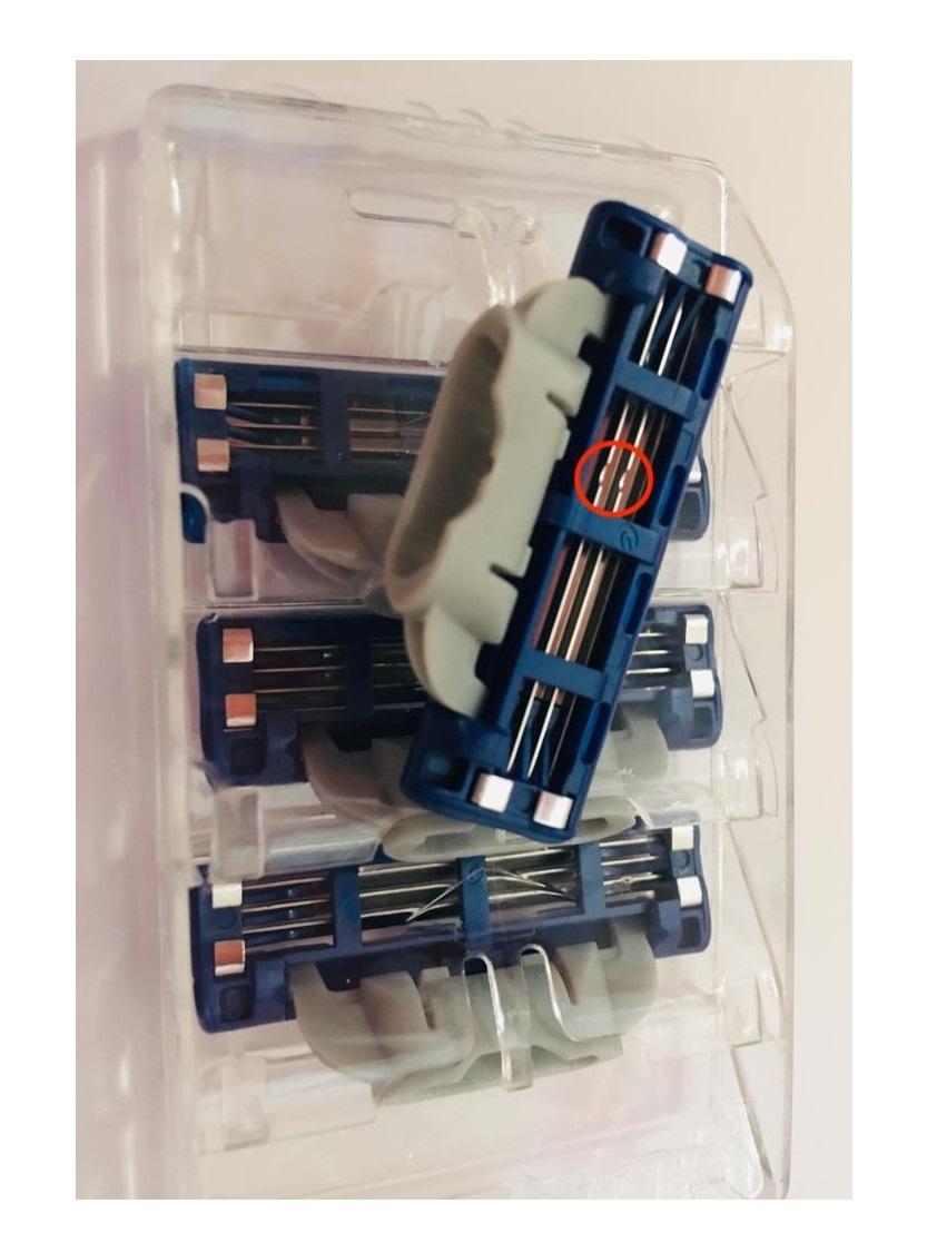 Лезвия для бритья Gillette MACH3 turbo в экономной упаковке (4 шт)