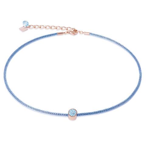Колье Coeur de Lion 0218/10-2000 цвет голубой