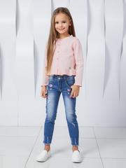 Джинсы для девочки с модной вышивкой и стразами купить