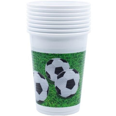 Стакан пласт Футбол зеленый 200мл 8шт
