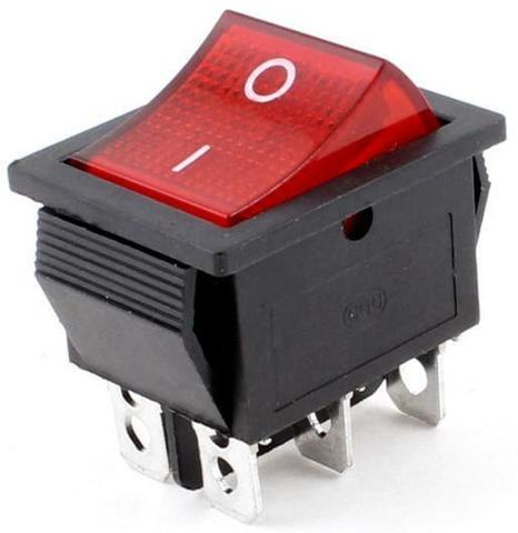 Кнопка широкая красная 16А | Soliy.com.ua