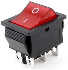Фото: Кнопка широкая красная 16А