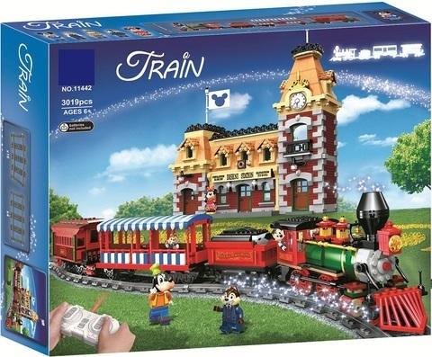 Конструктор Lari 11442 Поезд и станция Disney