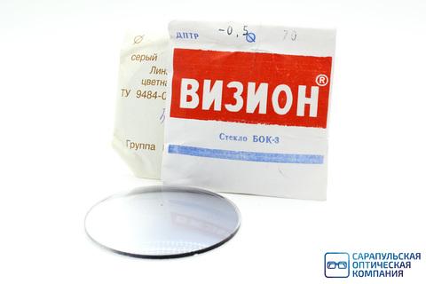 Линза очковая из неорганического стекла однофокальная серая с переменным покрытием ПП