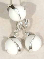 Наяда  (кольцо + серьги из серебра)
