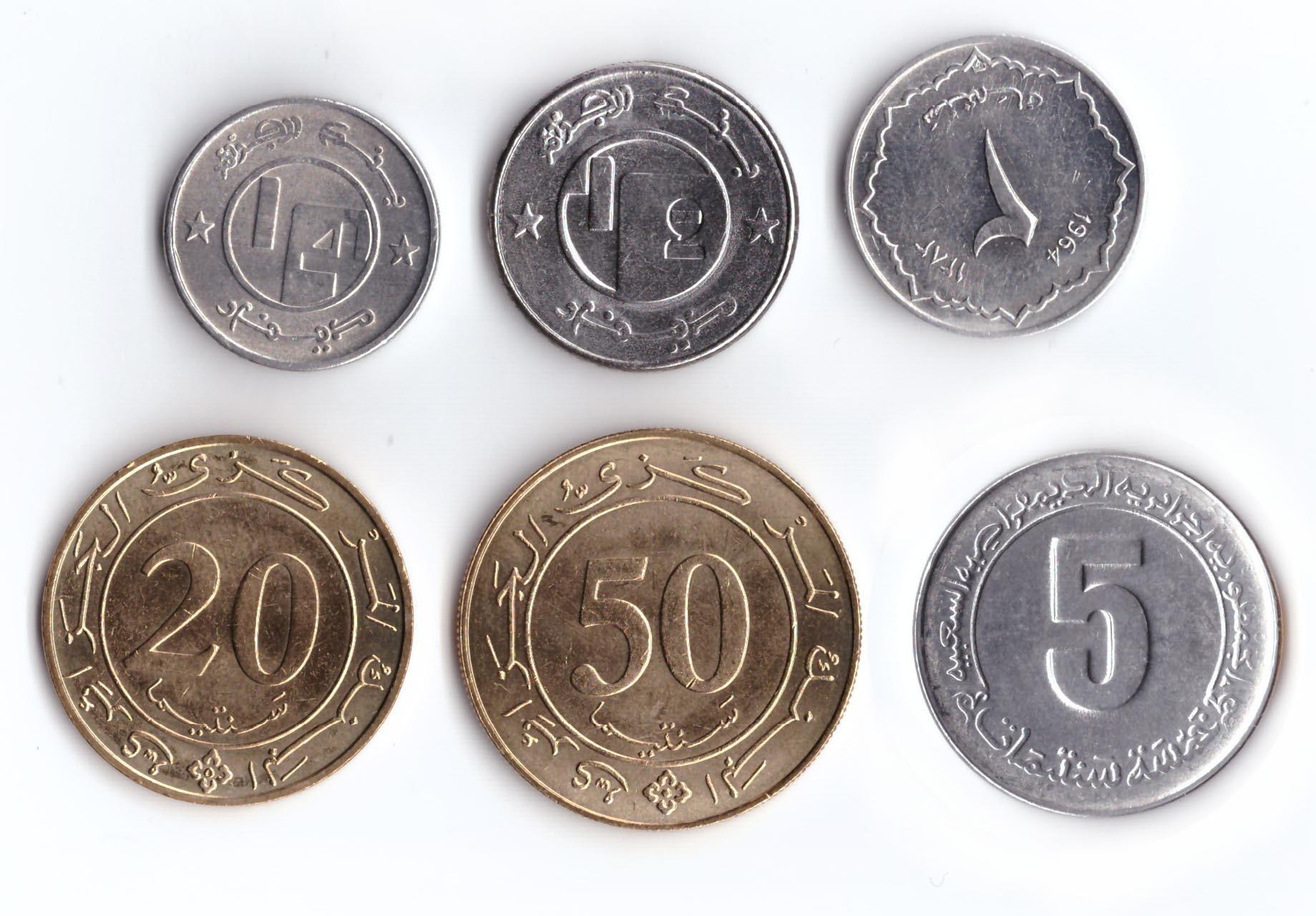 Набор из 6 монет Алжир. 1988-2004 гг. UNC