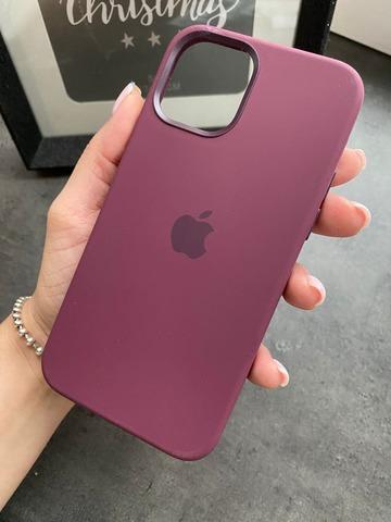 Чехол Iphone 12 pro Max Silicone case original quality /plum/