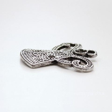 "Подвеска ""Ангел"" (цвет - античное серебро) 28х27 мм"