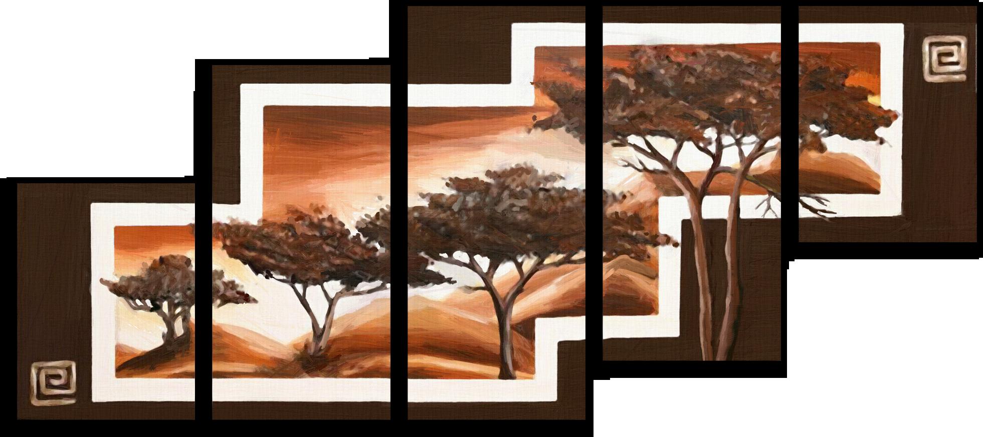 """Природа Модульная картина """"Деревья в горах"""" М283.png"""