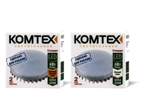 КОМТЕХ Лампа СДЛп-Т-6-220-827-120-GX53 Стандарт (Tablet 6W)