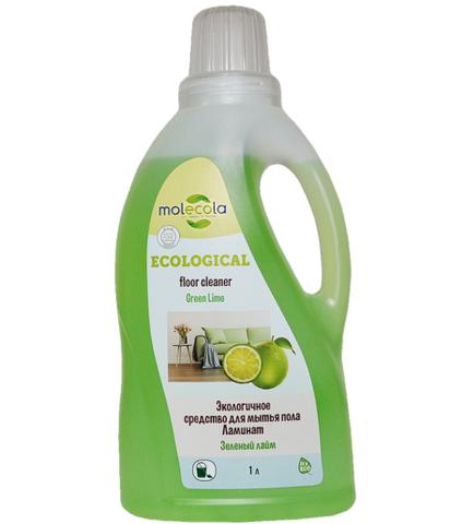 Универсальное моющее средство для пола Ламинат Зеленый Лайм, Molecola, экологичное, 1000мл