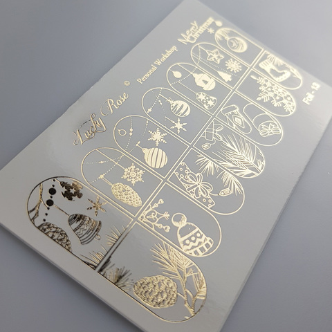 Слайдер Lucky Rose Foil gold 13